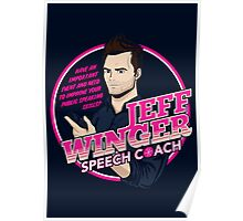 Jeff Winger: Speech Coach Poster