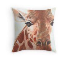 Gentle Giraffe Throw Pillow