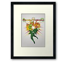 SWAMP FIGHTER Framed Print