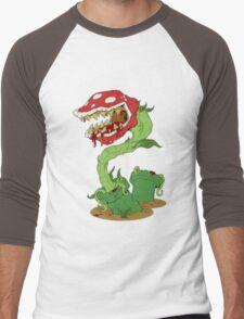 Bloodied Piranha Plant Men's Baseball ¾ T-Shirt
