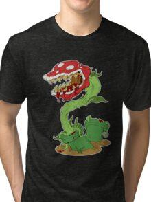 Bloodied Piranha Plant Tri-blend T-Shirt