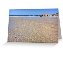 Golden Ripples of Liquid Sunlight Greeting Card