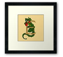 "Oscar and the Roses ""E - tail"" (Illustrated Alphabet) Framed Print"