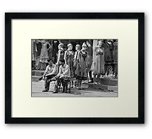 Dresses and  Friends Framed Print