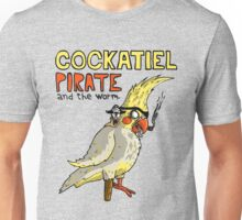 Cockatiel Pirate and the Worm. Unisex T-Shirt