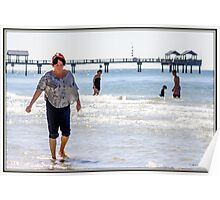 Wading in Clearwater Poster