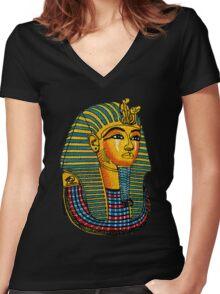King Tut Women's Fitted V-Neck T-Shirt