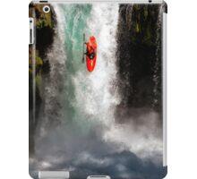 Extreme Waterfall Kayaking iPad Case/Skin