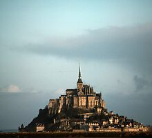Mont St Michel early morning 198402200003 by Fred Mitchell