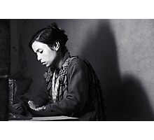 She Sews into the Night II Photographic Print