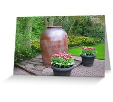 Giant Vase - Keukenhof Gardens Greeting Card