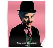 Charlie Chaplin with Pop Art Style Poster
