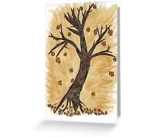 The Autumn Forest Will Die Happy To Re-birth Created with Tea Greeting Card