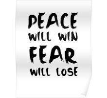 #PRAYFORPARIS - WHITE Poster