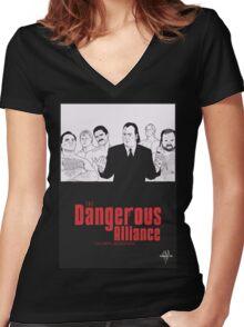 DANGEROUS ALLIANCE - Faction. Redefined. Women's Fitted V-Neck T-Shirt