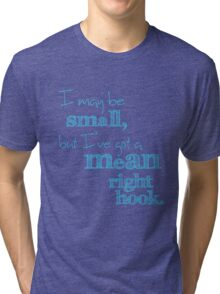 Mean Right Hook Boy Blue Tri-blend T-Shirt