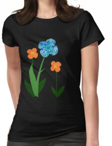 Fabric flowers Womens Fitted T-Shirt