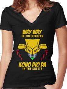 Wry Wry In The Streets Women's Fitted V-Neck T-Shirt