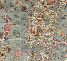 Vintage Old World Map by Jeff East