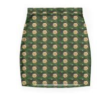 Fresh Lantana Flower Against Leaf Background Mini Skirt