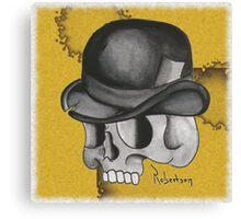 Bowler Skull Canvas Print