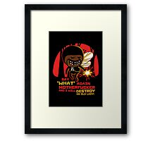 Adventure Fiction - Say What Again Framed Print