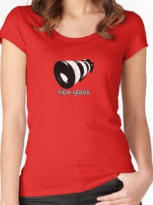 nice glass Women's Fitted Scoop T-Shirt