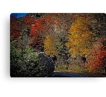 Fall Colors Airbrush Canvas Print