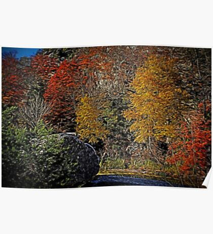 Fall Colors Airbrush Poster
