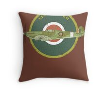 RAF MKII Spitfire Vintage Look Fighter Aircraft Throw Pillow
