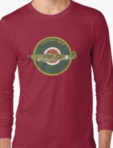 RAF MKII Spitfire Vintage Look Fighter Aircraft Long Sleeve T-Shirt