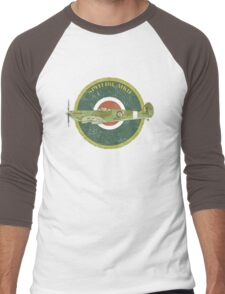 RAF MKII Spitfire Vintage Look Fighter Aircraft Men's Baseball ¾ T-Shirt