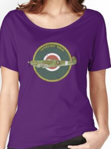 RAF MKII Spitfire Vintage Look Fighter Aircraft Women's Relaxed Fit T-Shirt