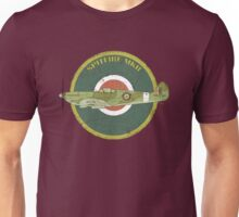 RAF MKII Spitfire Vintage Look Fighter Aircraft Unisex T-Shirt