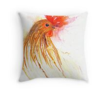 The Hen that Disappeared and then Came Back Throw Pillow