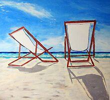 Beach Chair Breeze by gillsart