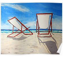 Beach Chair Breeze Poster