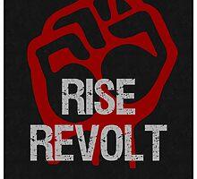 Rise & Revolt Return America Poster by Sarah  Eldred