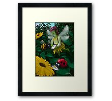 little magic fairy forest connected on to the internet Framed Print