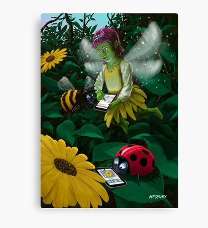 little magic fairy forest connected on to the internet Canvas Print
