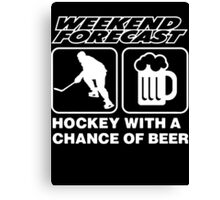 beer with hockey Canvas Print