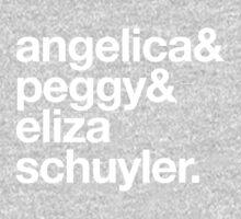 Angelica, peggy & eliza schuyler One Piece - Long Sleeve
