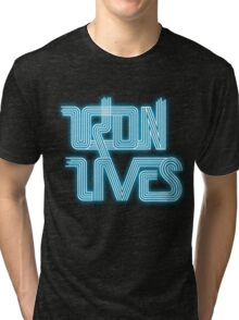 TRON LIVES Uprising version Tri-blend T-Shirt