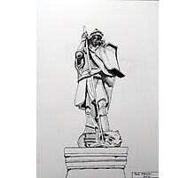 241 - JOHNSTOWN WAR MEMORIAL - DAVE EDWARDS - INK - 2013 Photographic Print