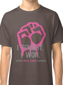 Fought & Beat Breast Cancer Awareness Classic T-Shirt