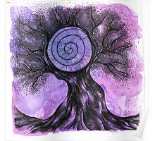 Purple Snail Tree Poster