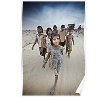 Children of the Thar Dessert, Rajasthan India Poster