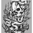 Skull & Snakes by hatefueled