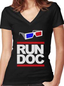 RUN - D.O.C. Women's Fitted V-Neck T-Shirt