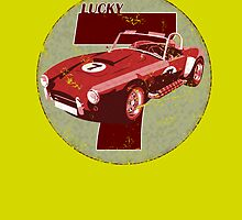 Vintage Feel Lucky Seven Cobra Classic Sports Car by astralsid